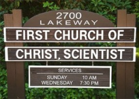 sign for First Church of Christ Scientist, Bellingham, WA