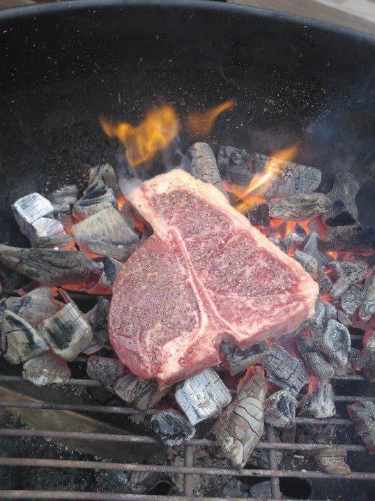 Caveman-style T-Bone steak