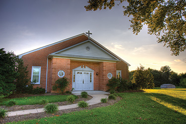 The Creswell Christian Church building