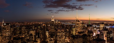 Empire State Building at Night, New York City