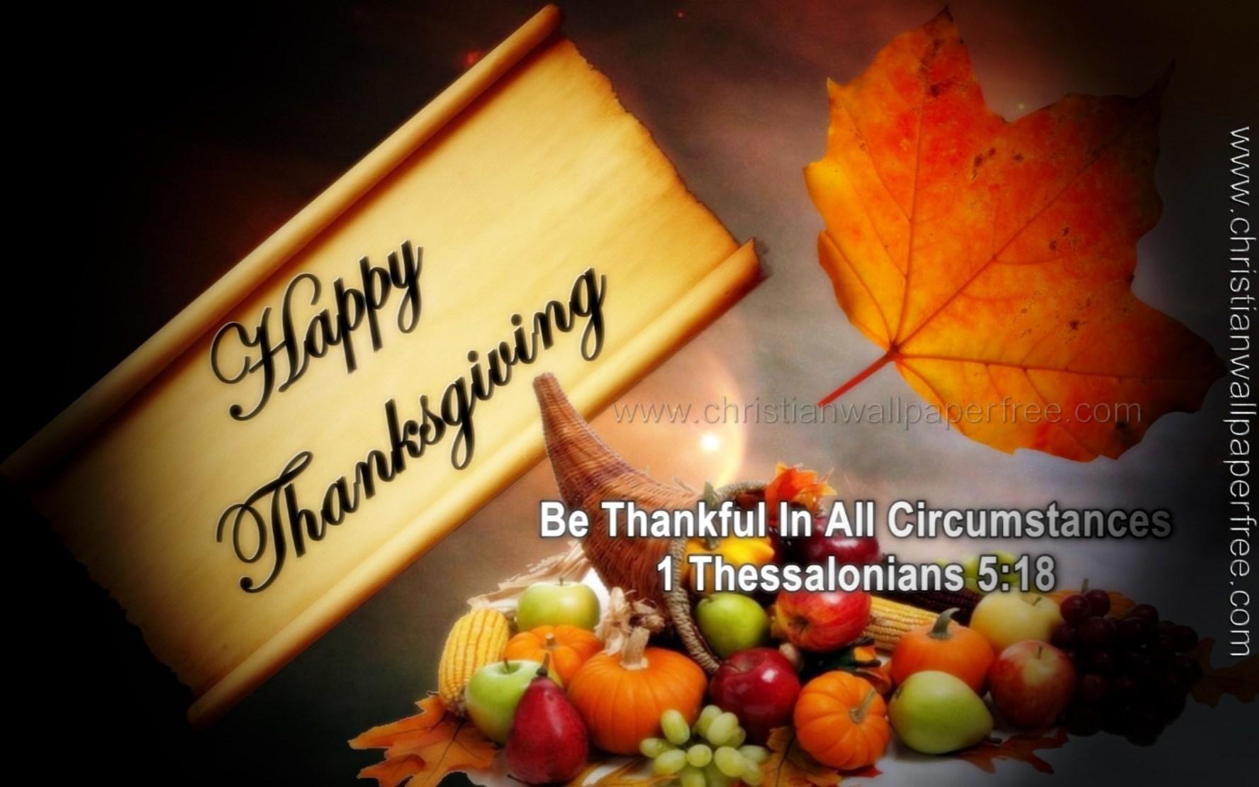 Thanksgiving 1 Thessalonians 5 Verse 18 Christian Wallpaper Free