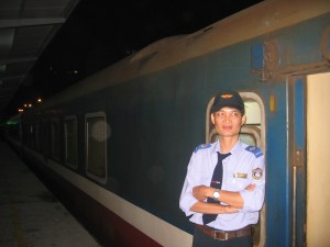 Vietnamese train driver