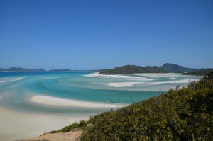 Iconic views over the Whitsunday island beaches