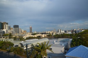 Cloudy view from YHA, Brisbane