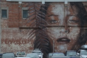 Iconic 'Face' street art, Christchurch