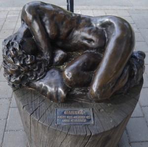 Sculpture at Queenstown beachfront
