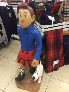 Tin Tin in a kilt