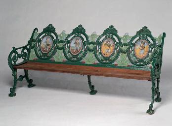 A Victorian Cast Iron Garden Bench Christie S