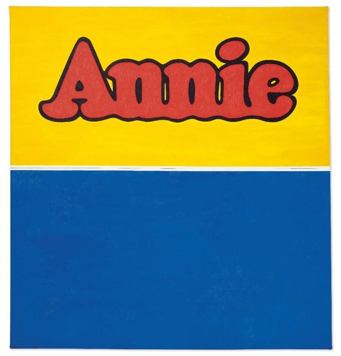 Annie, de Ed Ruscha, estimativa de vendas entre US$ 20 e US$ 30 milhões