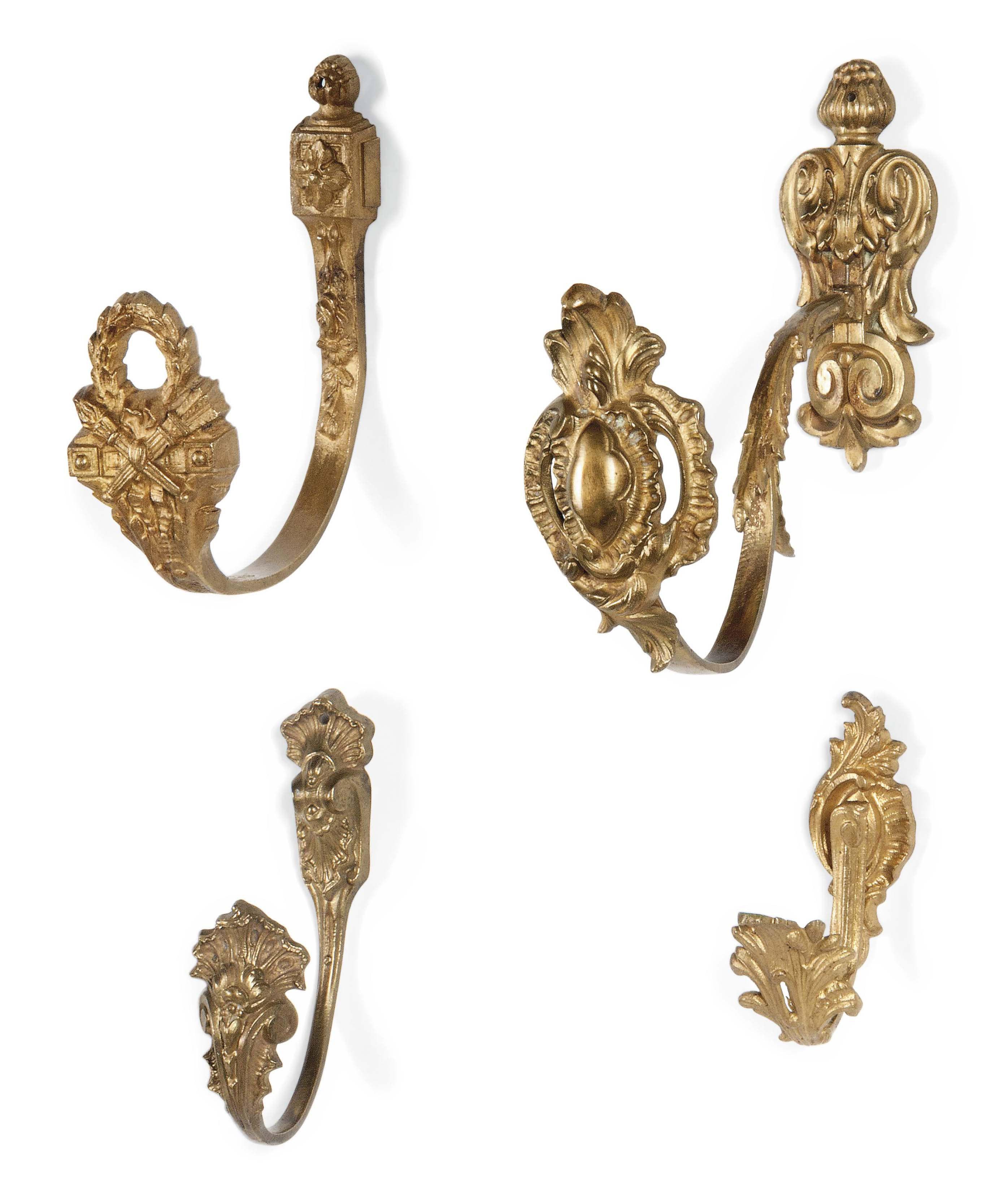french gilt brass curtain tie backs