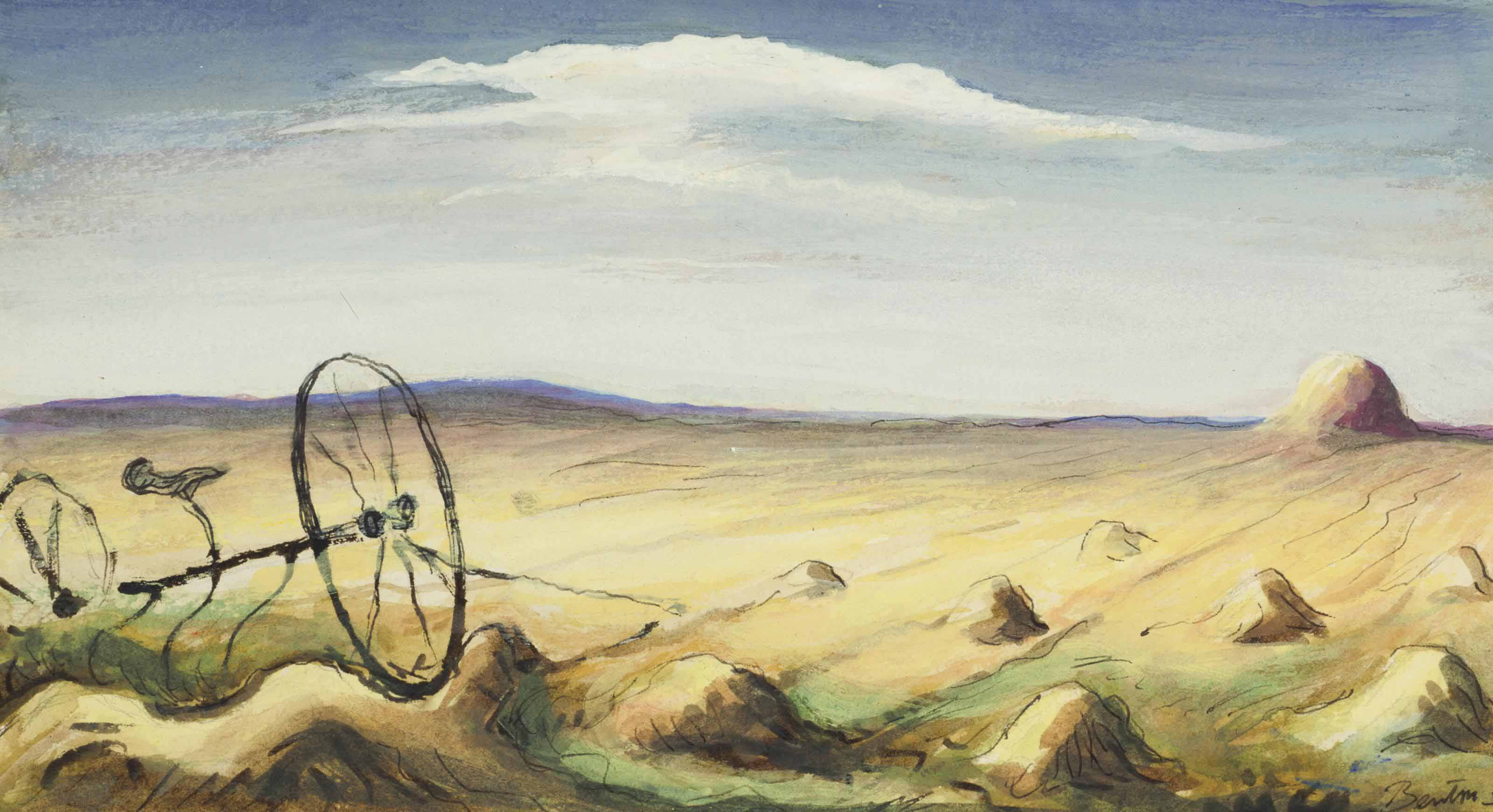 Thomas Hart Benton (1889-1975) , Hay Rake | Christie's
