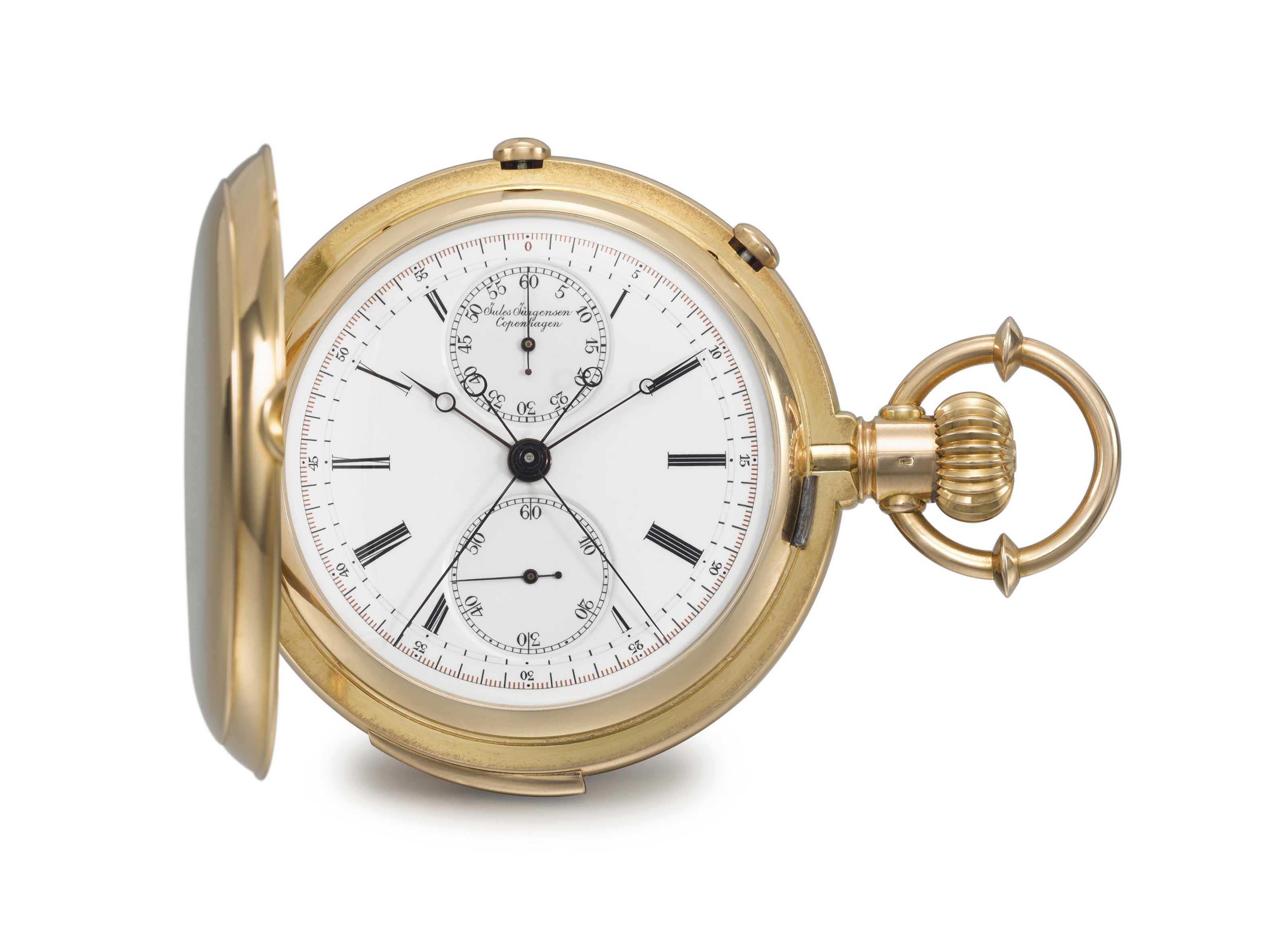 Jules Jurgensen A Very Fine And Rare 18k Gold Hunter Case