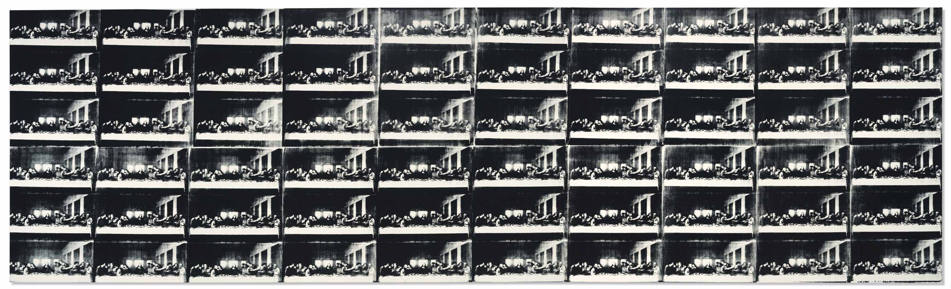 Andy Warhol (1928-1987), Sixty Last Suppers, painted in 1986. 116 x 393  in (294.6 x 998.2  cm). Sold for $60,875,000 in the Post-War & Contemporary Art Evening Sale on 15 November 2017  at Christie's in New York