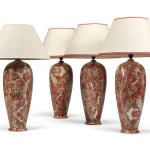 A Set Of Four Italian Simulated Red Marble Table Lamps Modern Lamp Furniture Lighting Christie S