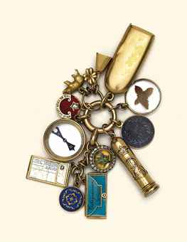 A COLLECTION OF LATE 19TH/EARLY 20TH CENTURY GOLD AND GEM-SET CHARMS OF ROYAL INTEREST