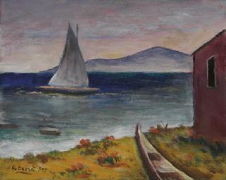 Carlo Carrà (1881-1966). Marina e capanno