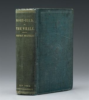 First Edition American copy of Moby Dick by Herman Melville