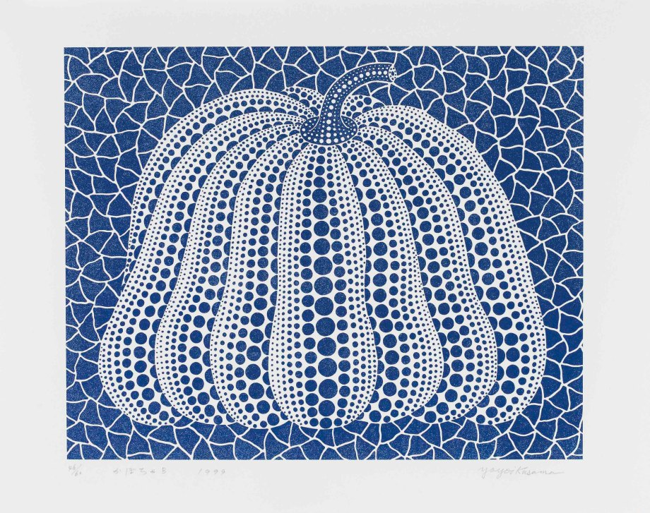 Image result for yayoi kusama dotted pumpkin painting