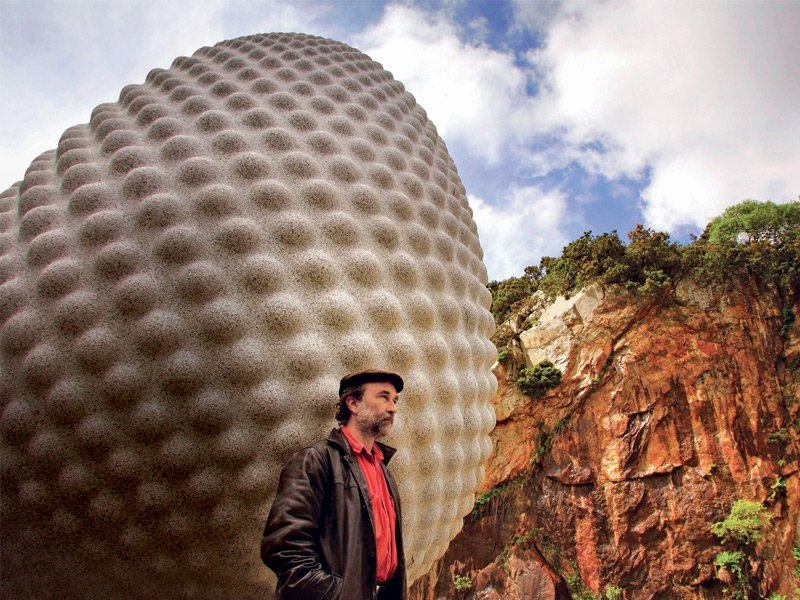 UK artist Peter Randall-Page studied marble carving in Italy while travelling with the Winston Churchill Memorial Trust Travelling Fellowship. Much of Randall-Page's work is inspired by organic forms such as seeds and fruit. Photograph: Marc Hill