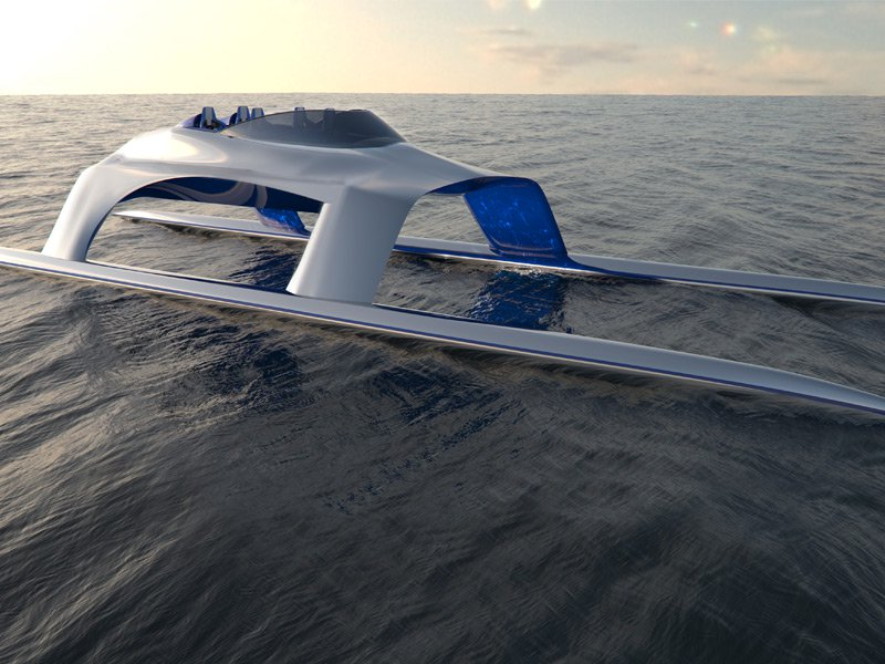 Currently under construction, the GLIDER SS18 will be able to analyze and adapt to the changing sea conditions flawlessly, allowing it to glide – as the name suggest– over waves easily. Photograph: Glider Yachts SS18 July 2015
