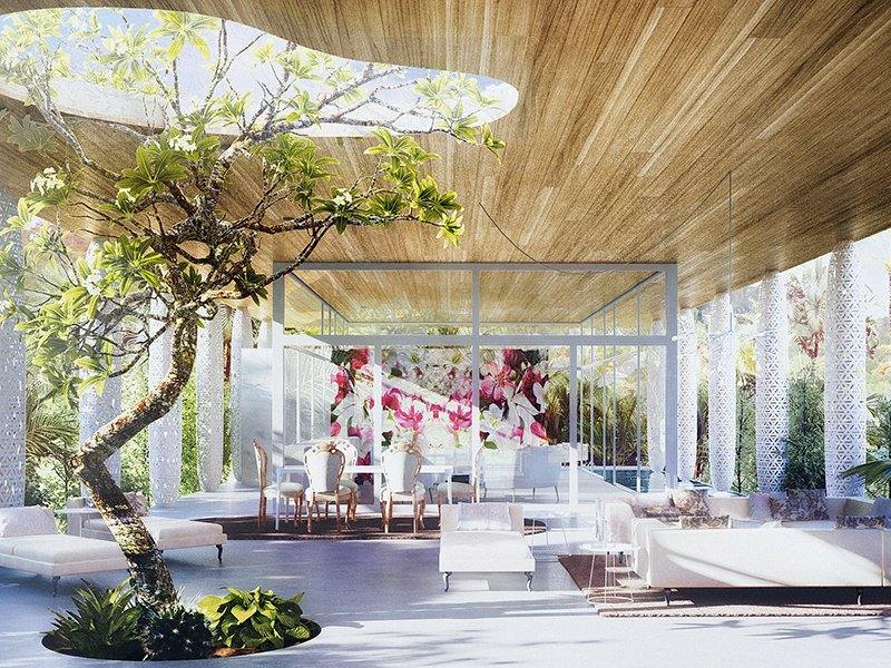 Eden Marcel Wanders The Eden house is available in three different styles, Natural, Eclectic, or Cosmopolitan, allowing the owner to customise the design, and add features such as a lap pool, outdoor bathtub – even a frangipani tree.