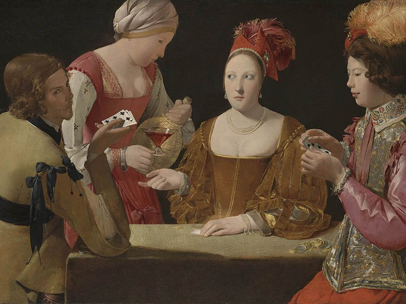 Georges de la Tour, The Cheat with the Ace of Clubs, c.1630-34, oil on canvas. Image: © Kimbell Art Museum, Fort Worth, Texas/The National Gallery, London