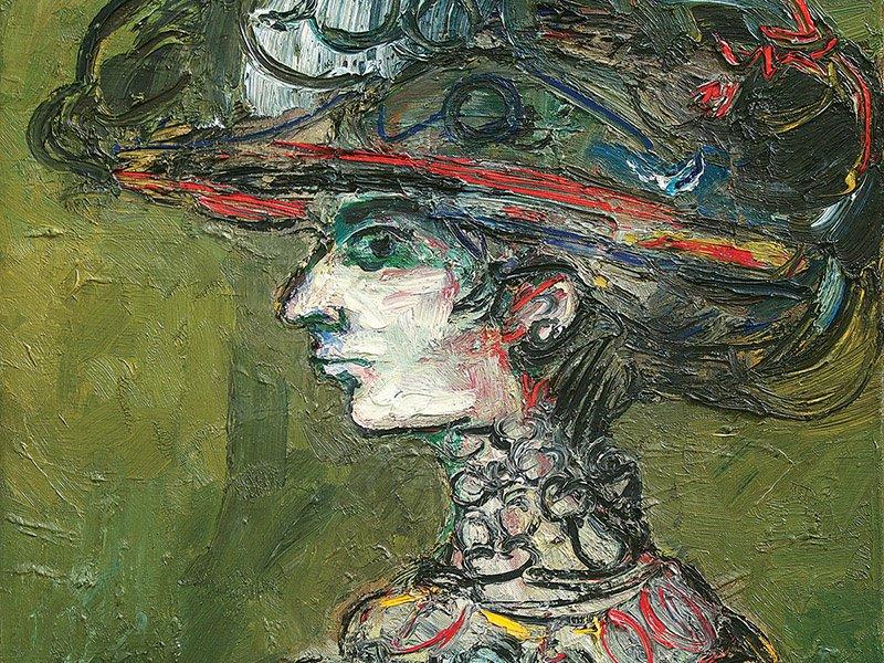 Segundo Retrato de Flora (detail) by René Portocarrero, 1965, oil on canvas. Exhibitor: Cernuda Arte, Coral Gables, FL