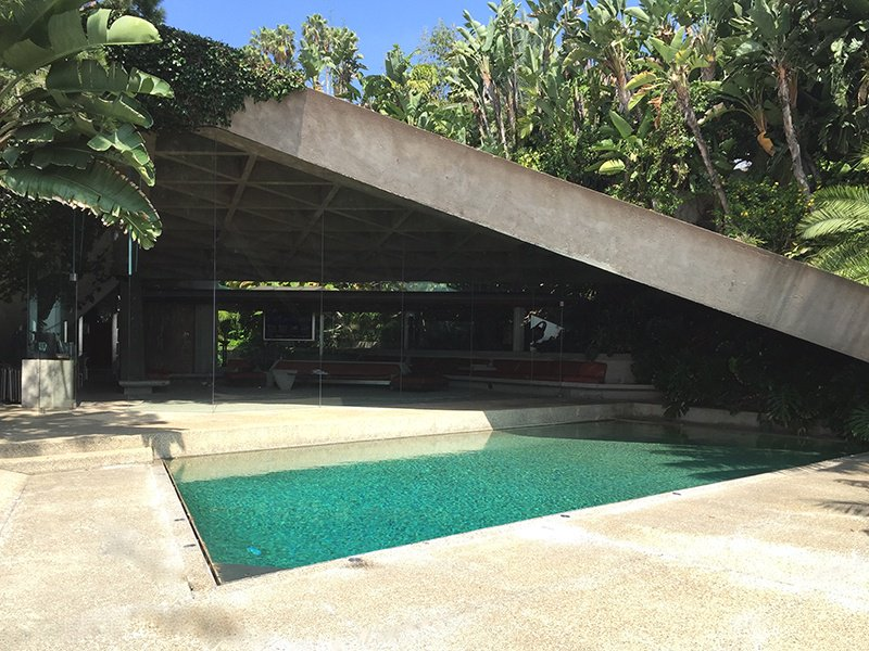 Designed and built in the 1960s by architect John Lautner, and further updated until Lautner's death in 1994, the landmark Sheats Goldstein residence has recently been bequeathed to LACMA by owner James Goldstein. Photograph: Kristin Fliehler