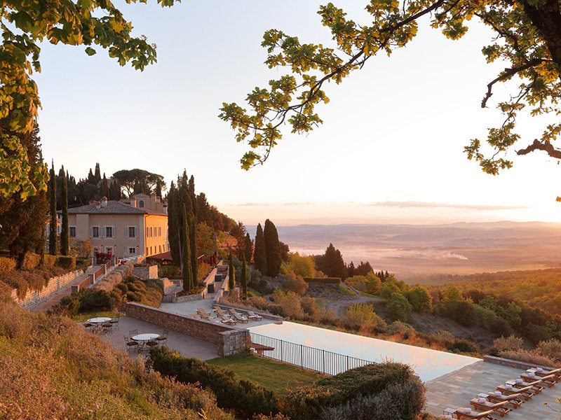 Located in the UNESCO-listed Val d'Orcia in Tuscany, Rosewood Castiglion del Bosco is steps away from Castiglion del Bosco Winery, and its Millecento Wine Club.