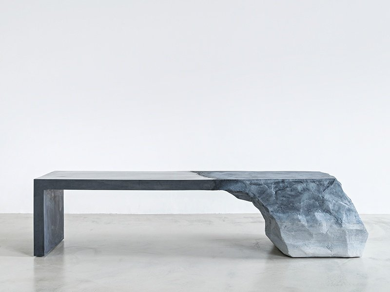 The Drift bench—the series was inspired by the landscapes Mastrangelo saw on trips to Patagonia and the Grand Canyon. Photograph: Laura Barisonzi.