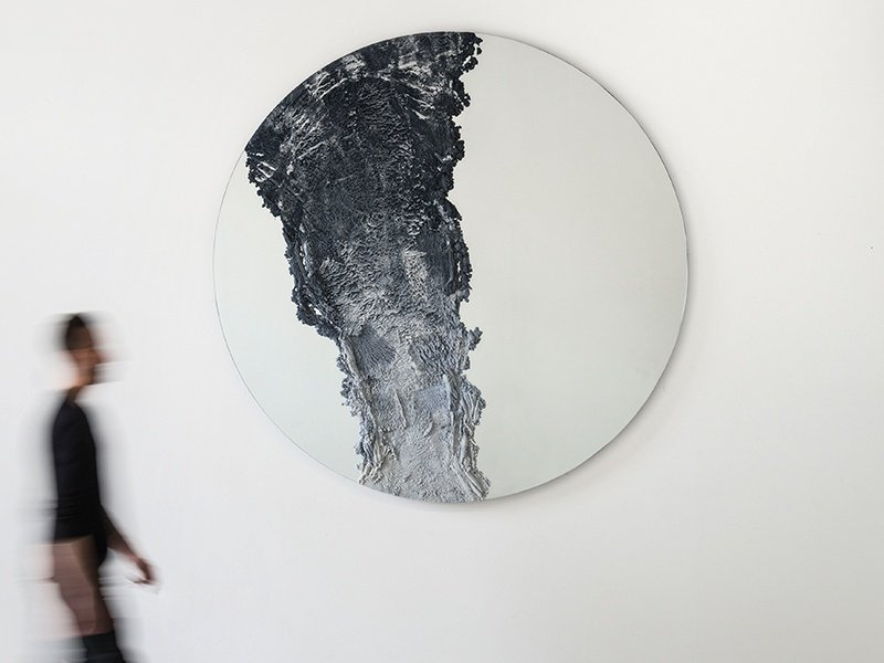 The Drift mirror made of sand and glass combines creativity with functionality. Photograph: Laura Barisonzi.