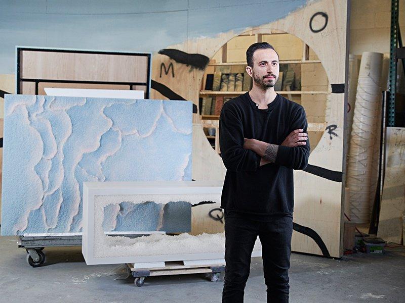 Artist, sculptor, and designer Fernando Mastrangelo in his Brooklyn studio. Photograph: Laura Barisonzi.