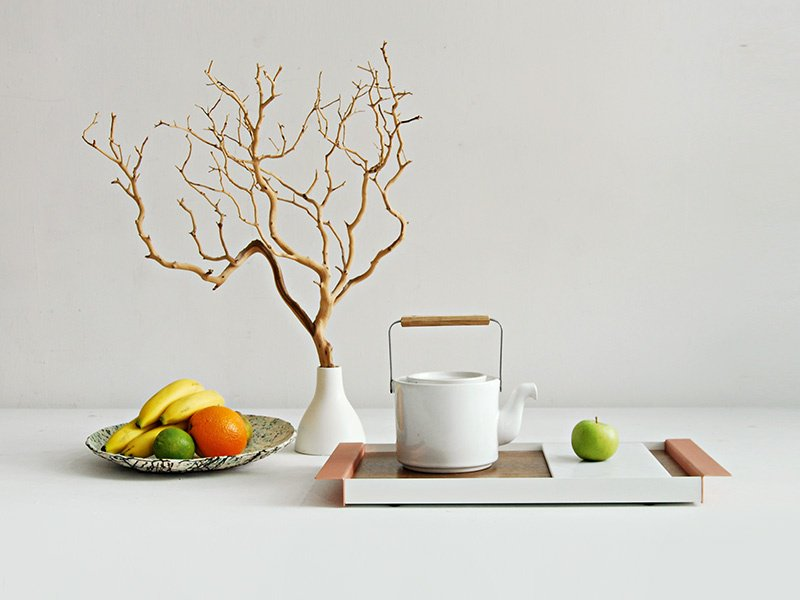 The Perimeter Tray by Ladies & Gentlemen Studio, which was founded in 2010 in Brooklyn's Red Hook neighborhood by designers Dylan Davis and Jean Lee.