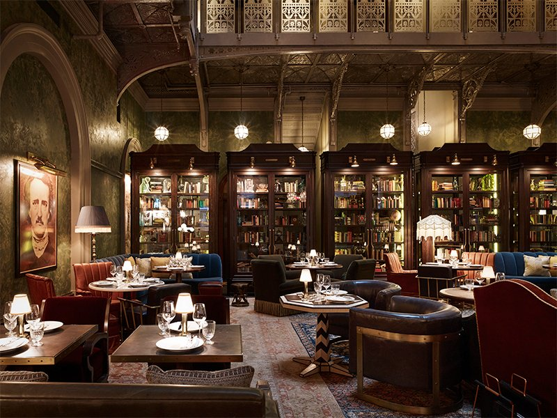 Resurrected after years of abandonment, the bar at The Beekman hotel in Lower Manhattan is now a fashionable place for New York City residents to meet.