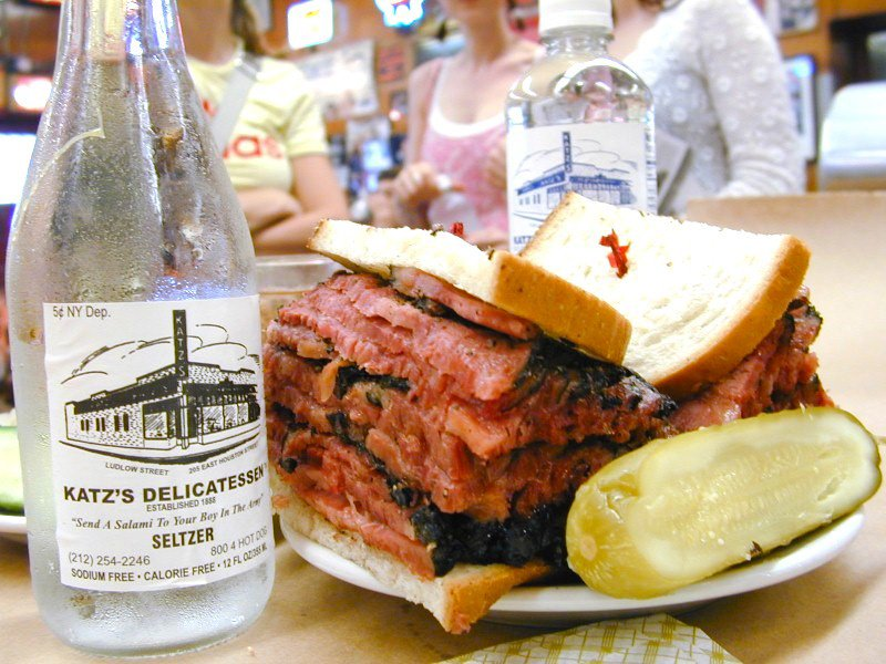Visitors to New York City flock to Katz's Deli to enjoy one of its famous pastrami sandwiches, often described as the best in Manhattan. Photograph: Katz's Delicatessen.
