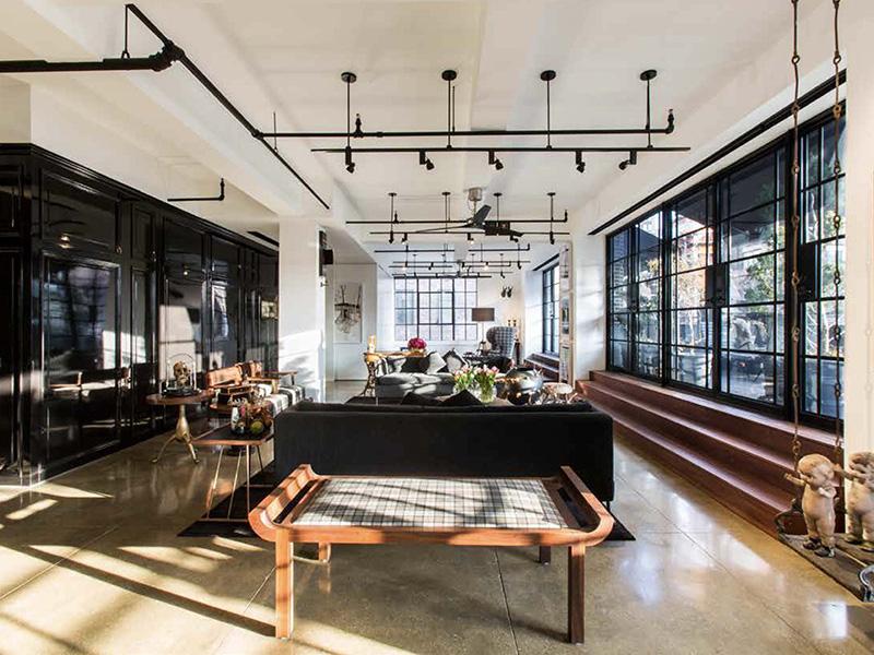 Warehouse living room