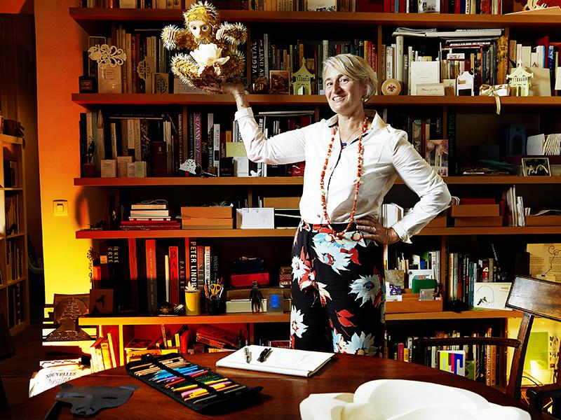 Marianne Guély in studio