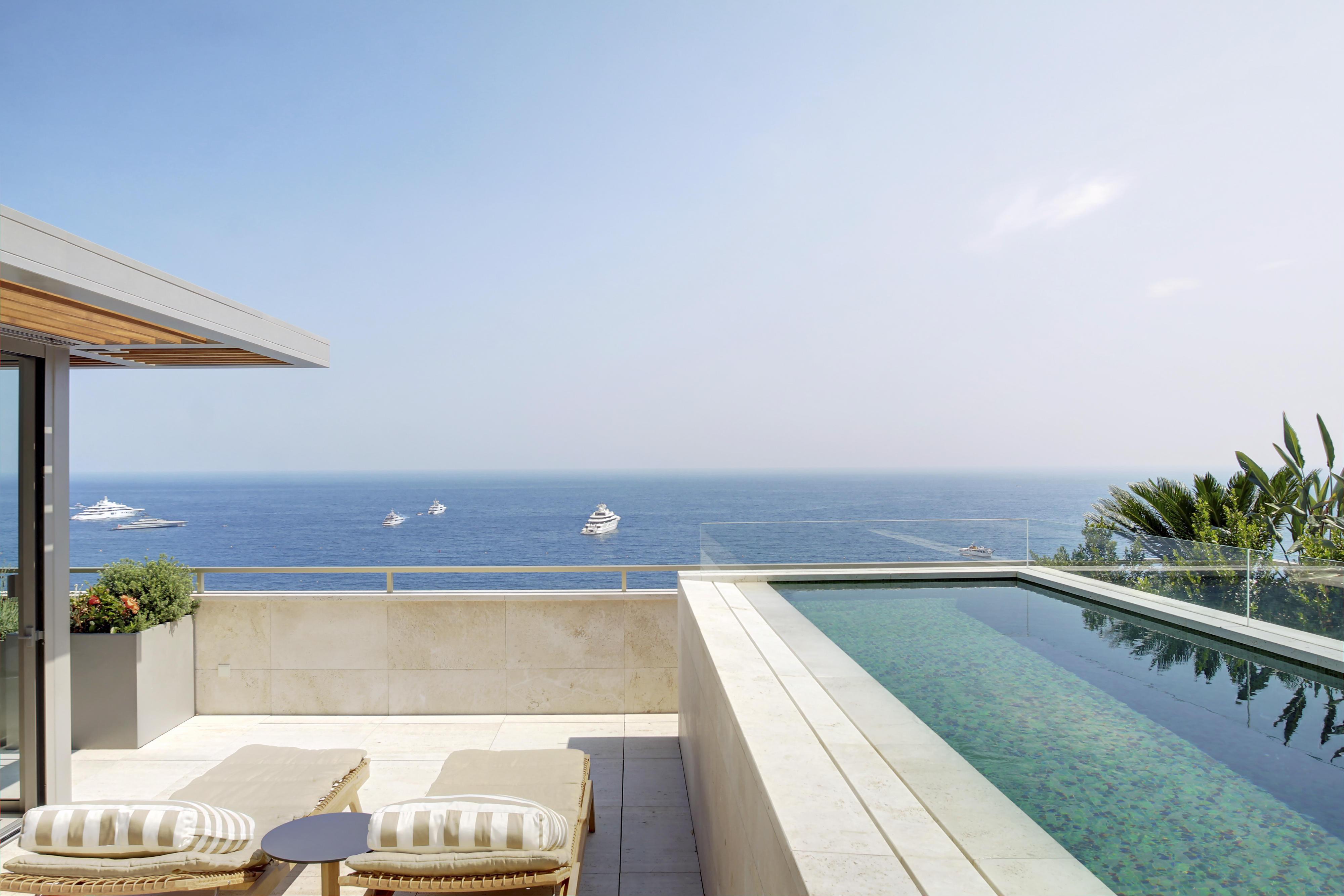 Monaco Rooftop Home Sea Views