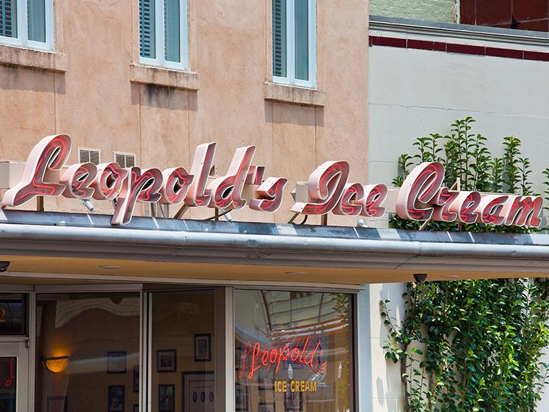 Leopold's ice cream parlor