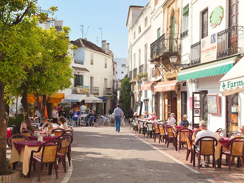 Casco Antiguo Marbella Spain square