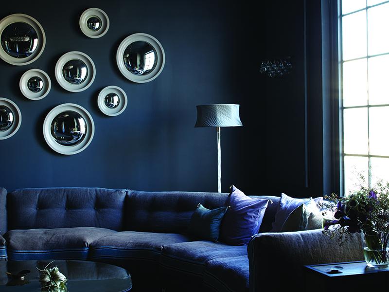 Ochre mirrors lounge