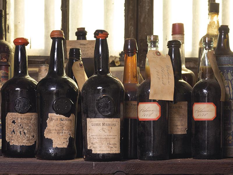 Cache of Madeira wine