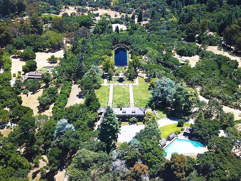 Green-Gables-trees-pool-California