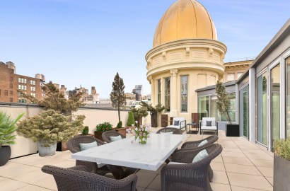 Manhattan's Architectural Rarity: Chelsea's O'Neill Penthouse with Gold Cupola