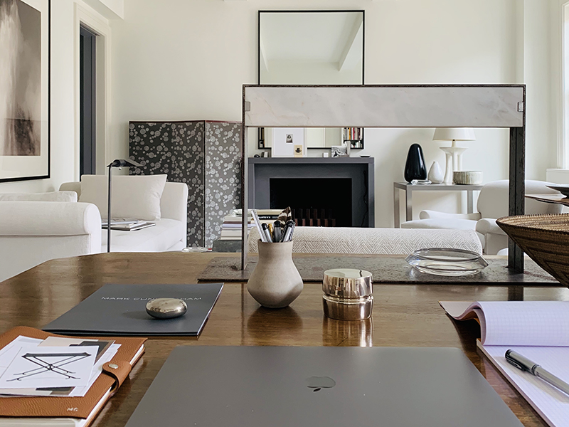 Designer Mark Cunningham's home office