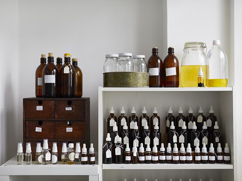 A range of bottled scents