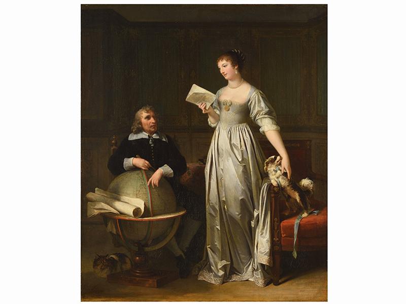 Une Jeune femme venant de recevoir une lettre de son époux by Marguerite Gérard