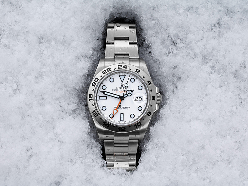 The Rolex Explorer in the snow