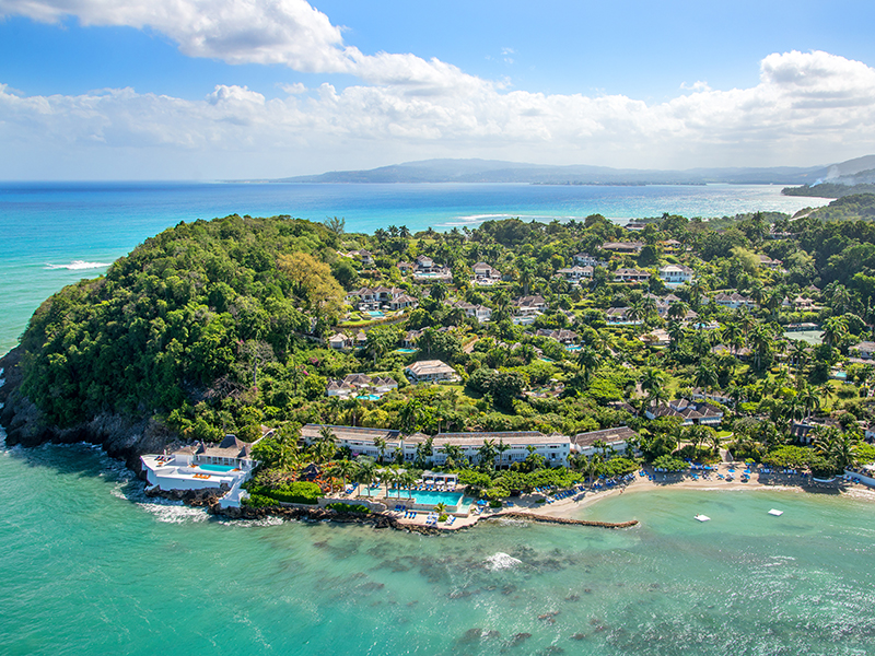 Aerial view of Montego Bay
