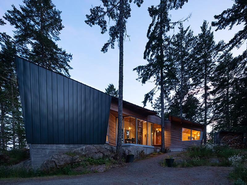 Sooke House at twilight
